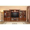 Paramount Furniture Huntington Large Bookcase Entertainment Center  - Item Number: Hun-LEC