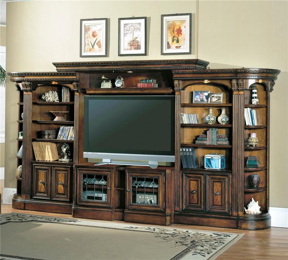 Parker House Huntington Open Bookcase Entertainment Wall Unit - Item Number: Hun-OEC