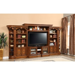 Open Bookcase Entertainment Wall Unit