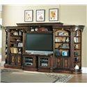 Parker House Huntington Open Bookcase Entertainment Wall Unit