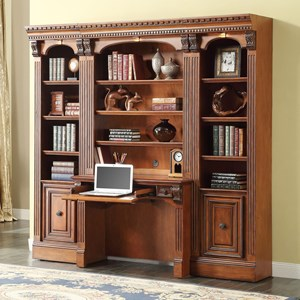 Small Bookcase Desk and Hutch