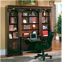 Parker House Huntington Two-Piece Library Desk - Shown with Two 21 Inch Open Top Bookcases