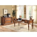 Parker House Huntington Two-Drawer Lateral File - Shown with Writing Desk