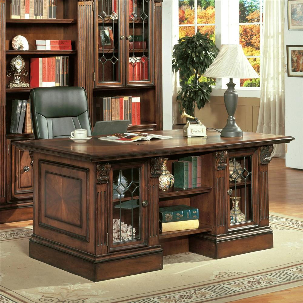 Parker House Huntington Double Pedestal Executive Desk Wayside Furniture Double Pedestal Desk