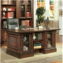 Parker House Huntington Dbl. Pedestal Executive Desk - Item Number: Hun480_3