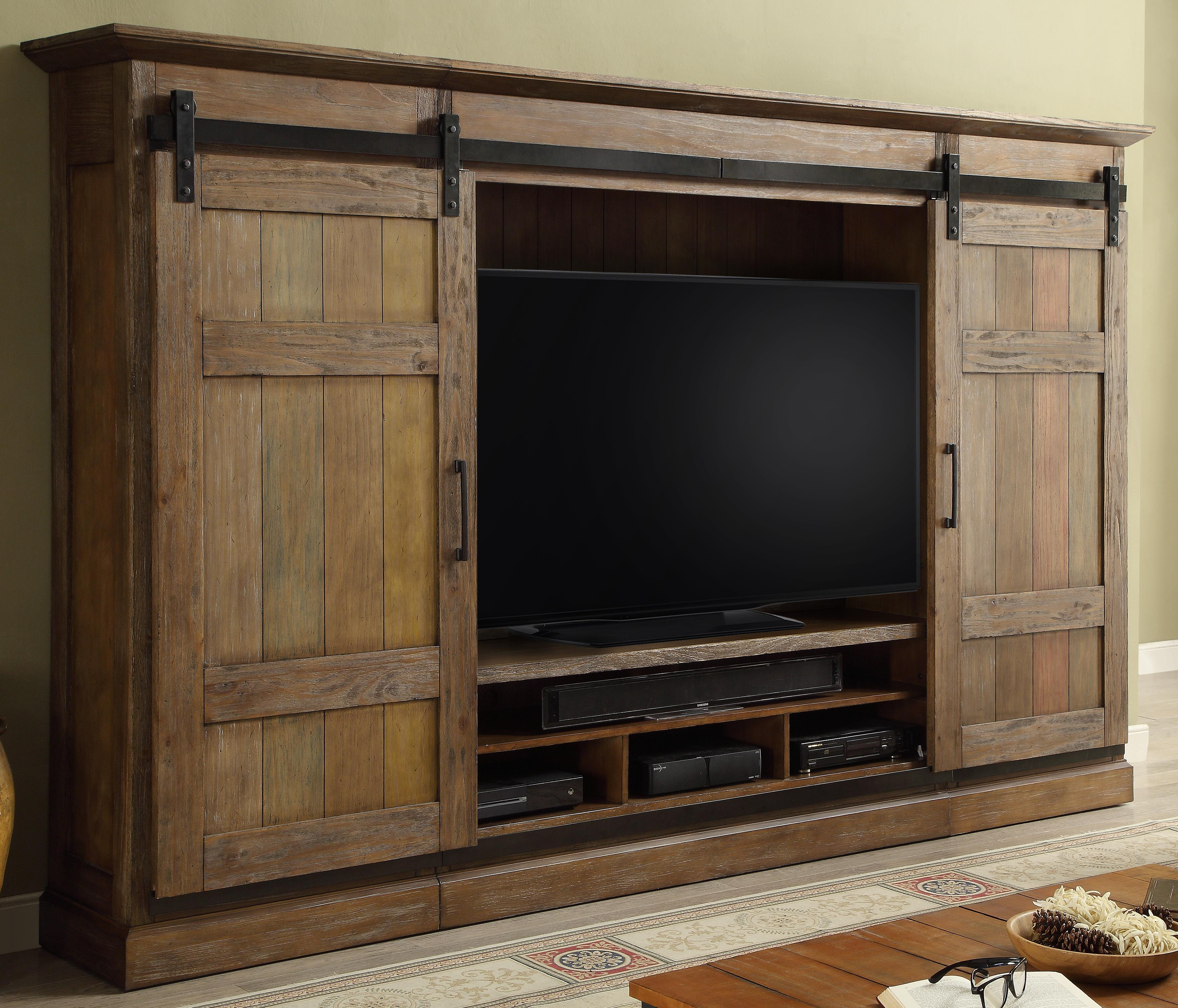 Parker House Hunts Point 4pc Entertainment Wall - Item Number: HPT-1063-4