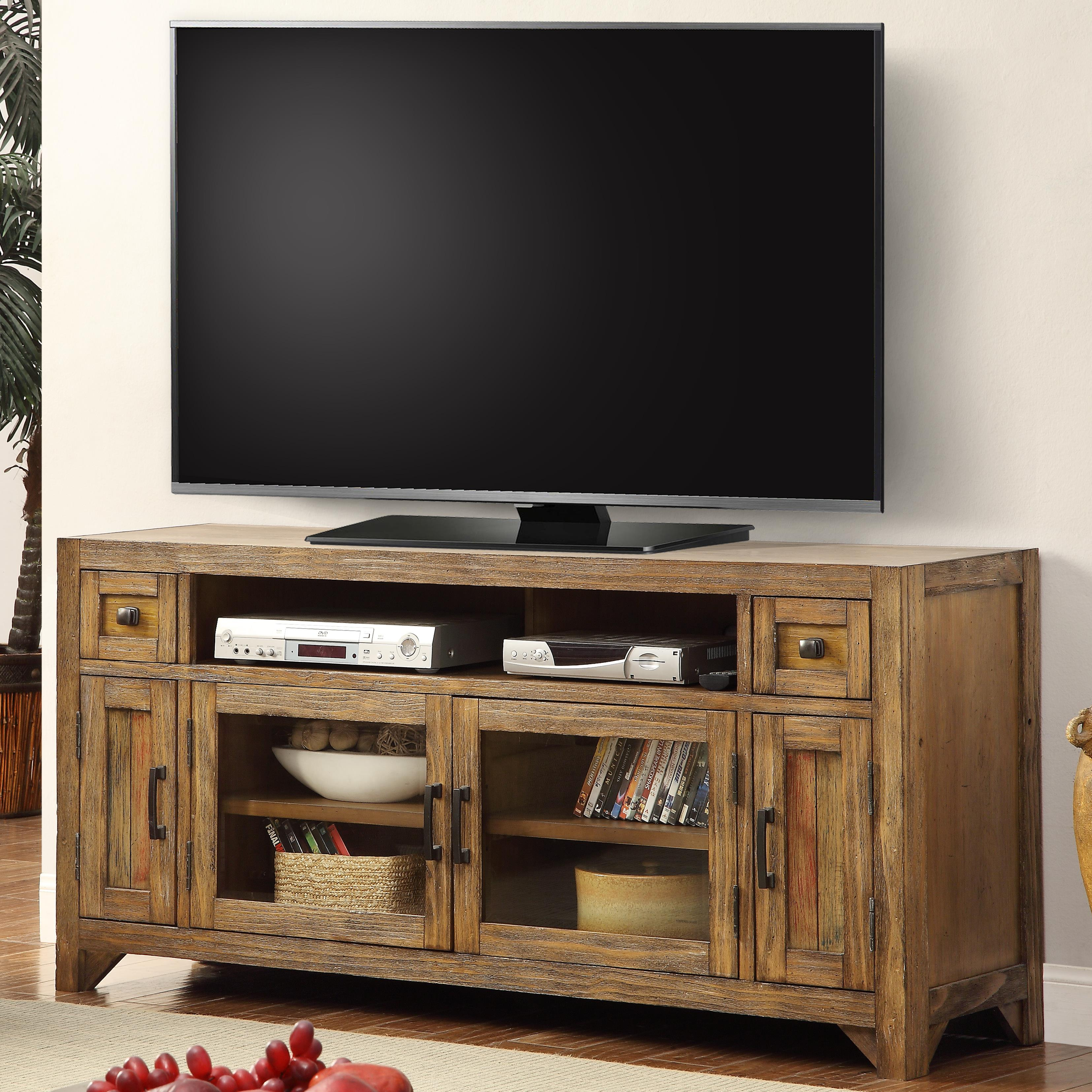"Parker House Hunts Point 63"" TV Console with Power Center - Item Number: HPT-63"