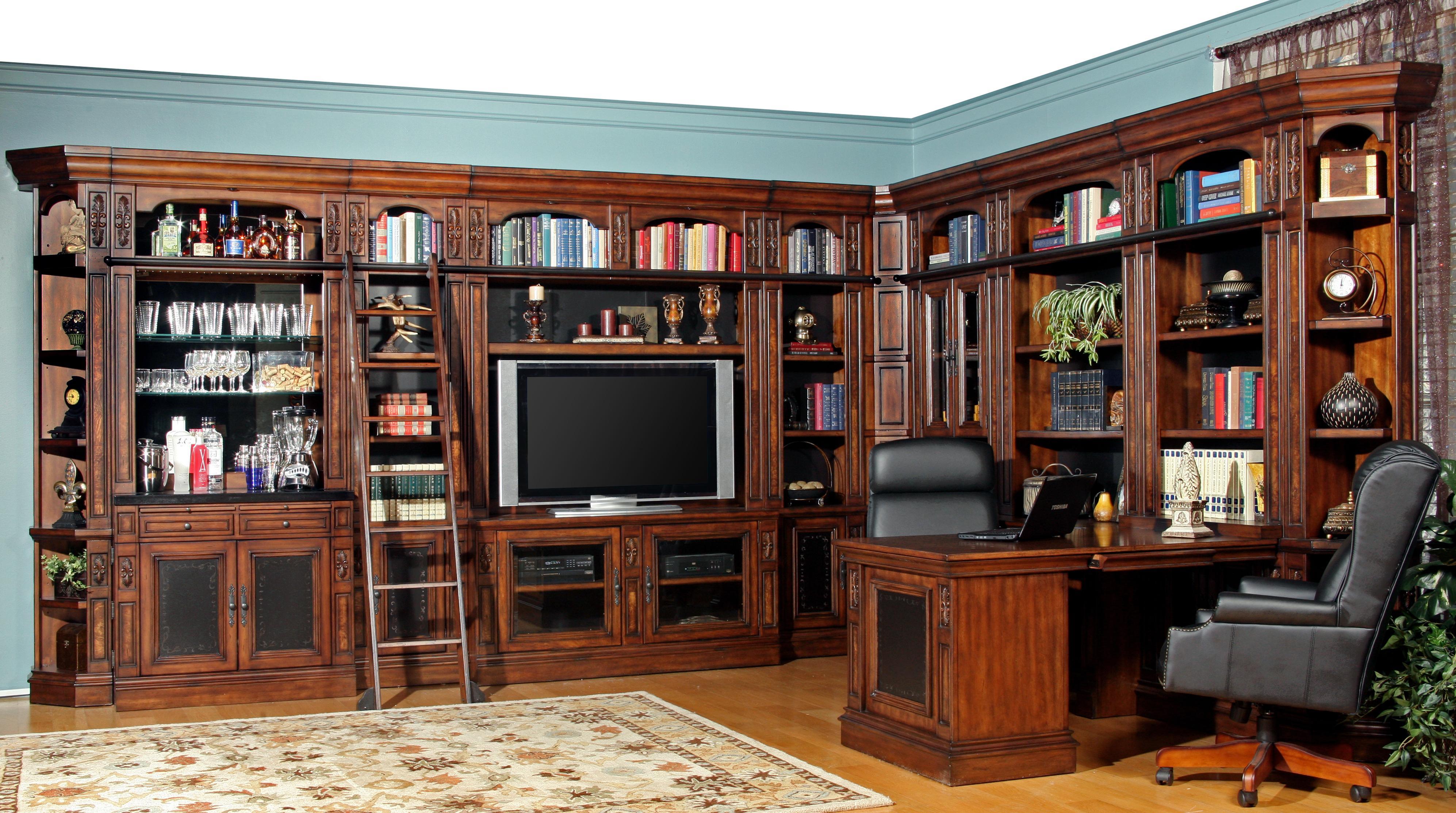 Parker House Leonardo Full Library - Item Number: LEO405+412+465-2+490-2+495