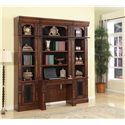 Parker House Leonardo 4pc Wall Bookcase and Desk - Item Number: LEO460-2+2X420