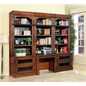 4pc Library Desk and Lateral File