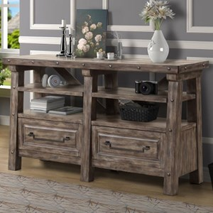 Rustic Lodge-Style Credenza