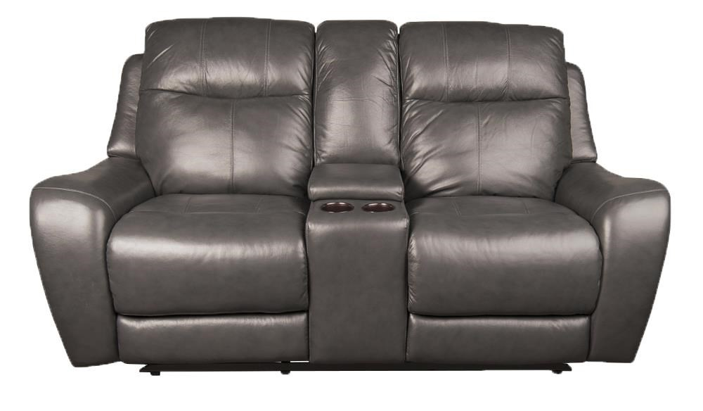 Marley Leather Match Power Loveseat