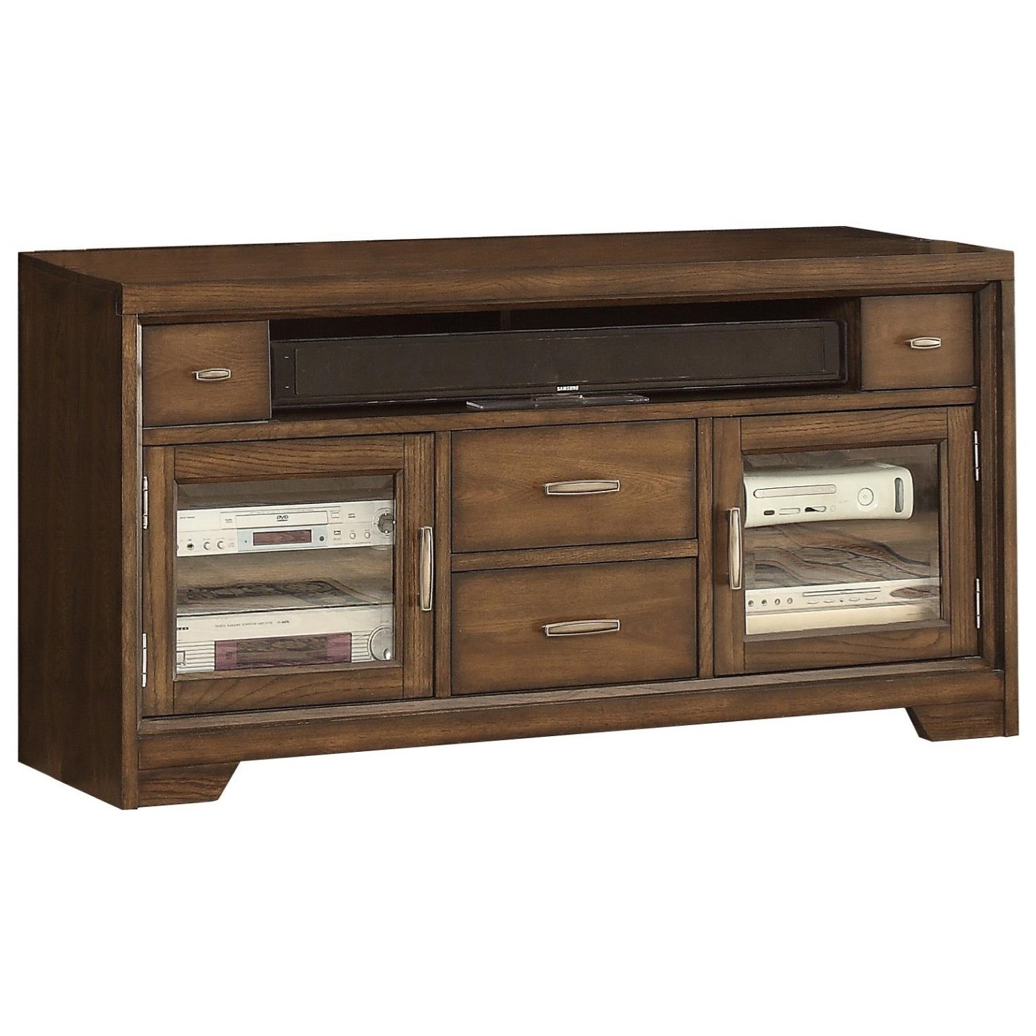 Parker House Meridien 60 Tv Console With Two Glass Doors Dream Home Furniture Tv Stands