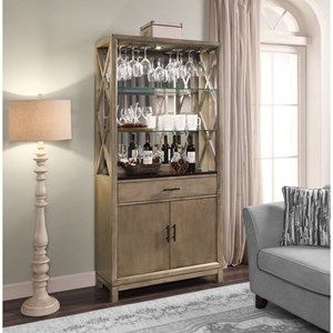 Bunching Bookcase Bar Cabinet
