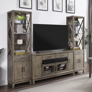 3 Piece Entertainment Wall Unit