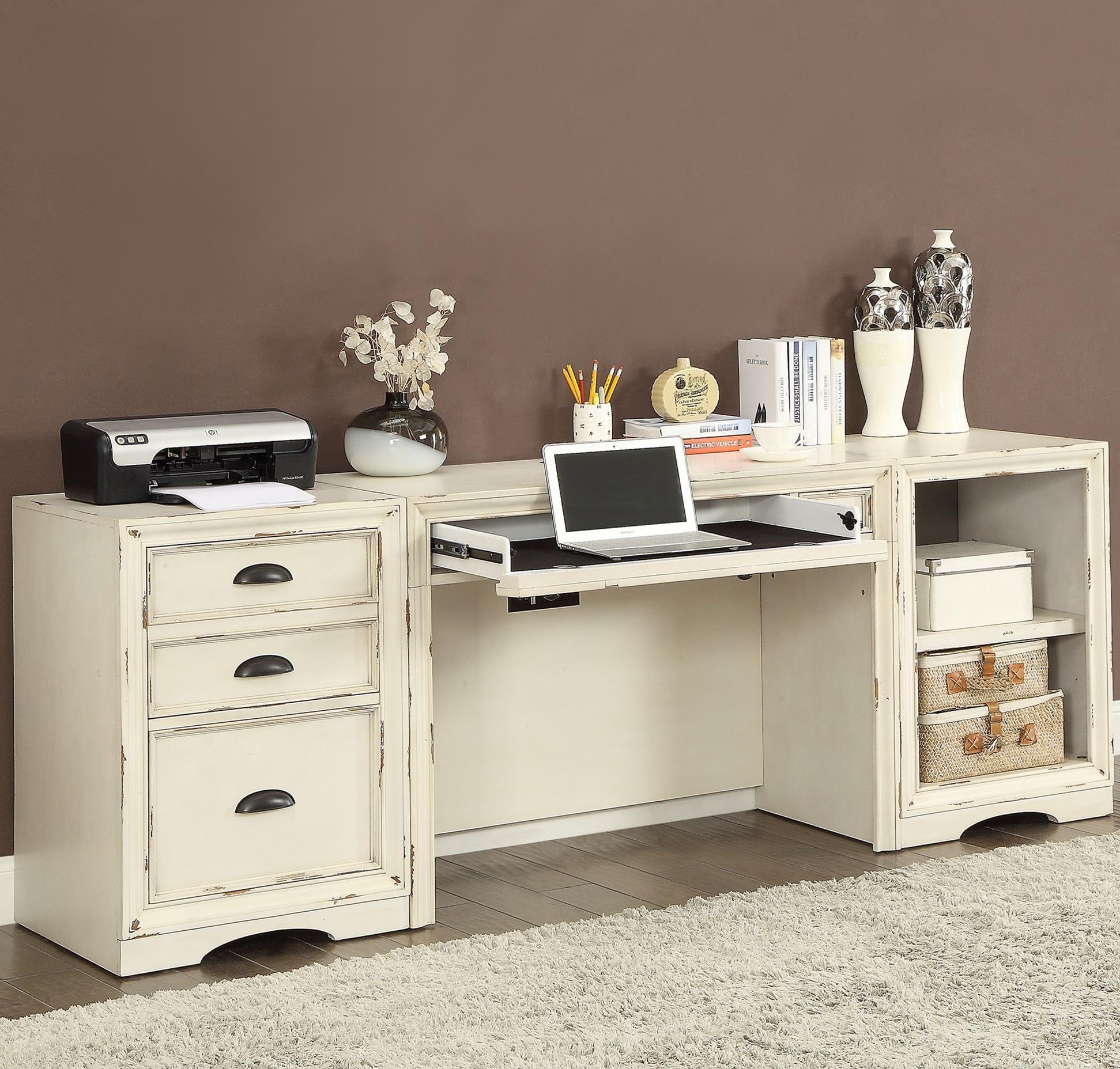 Parker House Nantucket 3 Piece Desk With File Storage