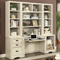 Parker House Nantucket 6 Piece Home Office Wall - Item Number: NAN-6-HO-FO