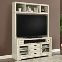 Parker House Nantucket TV Stand with Hutch - Item Number: NAN-912+905H