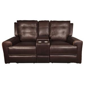 Parker Scott Northern Northern Leather Match Power Loveseat