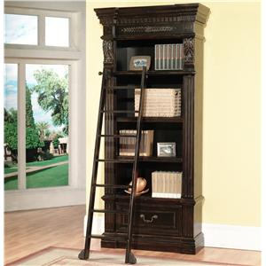 Parker House Palazzo  Museum Bookcase with Ladder
