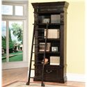 Parker House Palazzo  Museum Single Bookcase with 4 Shelves and Ladder - GPAL 9030+9095