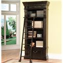Parker House Palazzo  Museum Single Bookcase Combination - Shown with Ladder