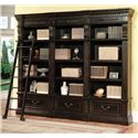 Parker House Palazzo  Museum Single Bookcase Combination - Shown with Ladder & 3 Bunched Together