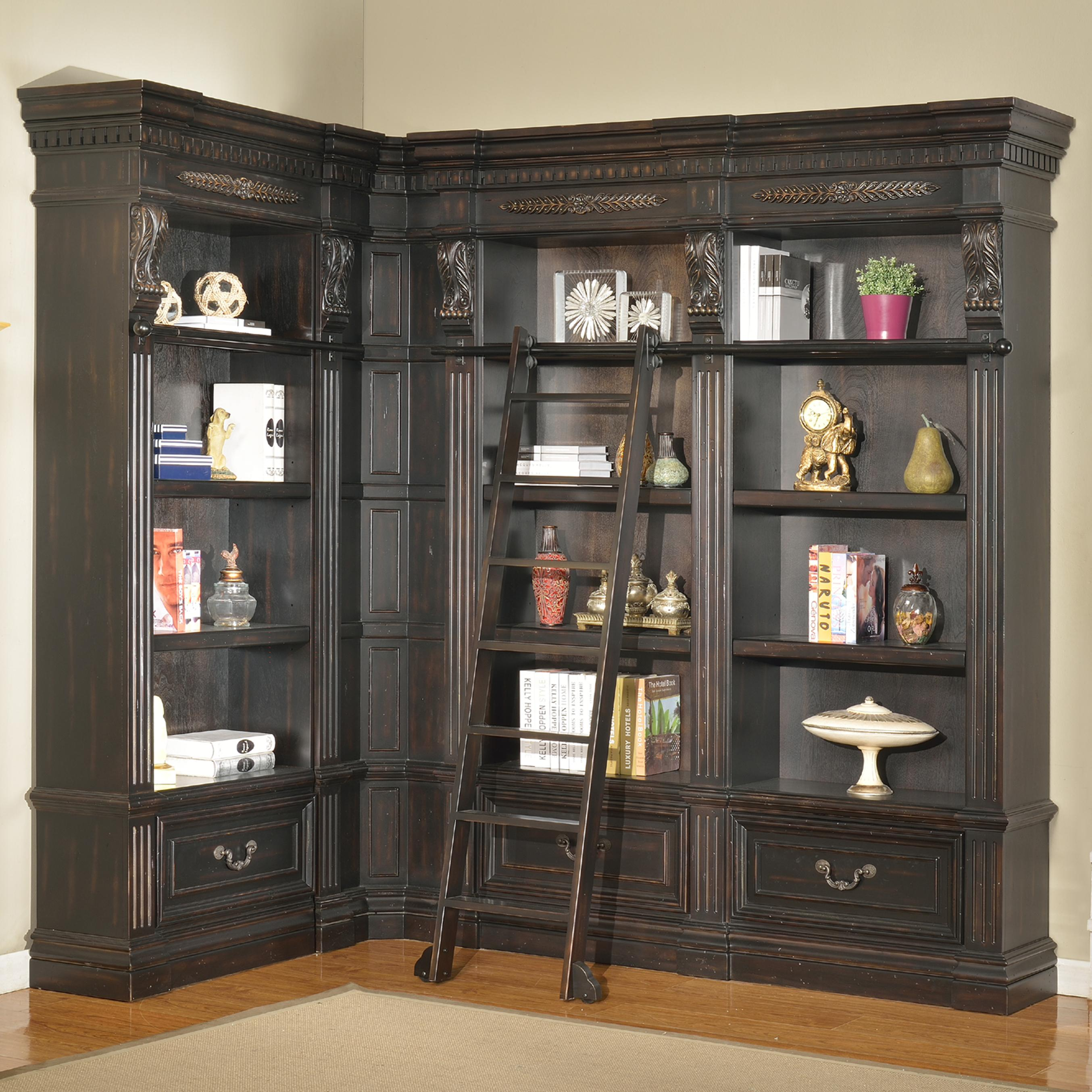 Parker House Palazzo  5 Piece Museum Bookcase - Item Number: GPAL9056+2x9030+9031+9095