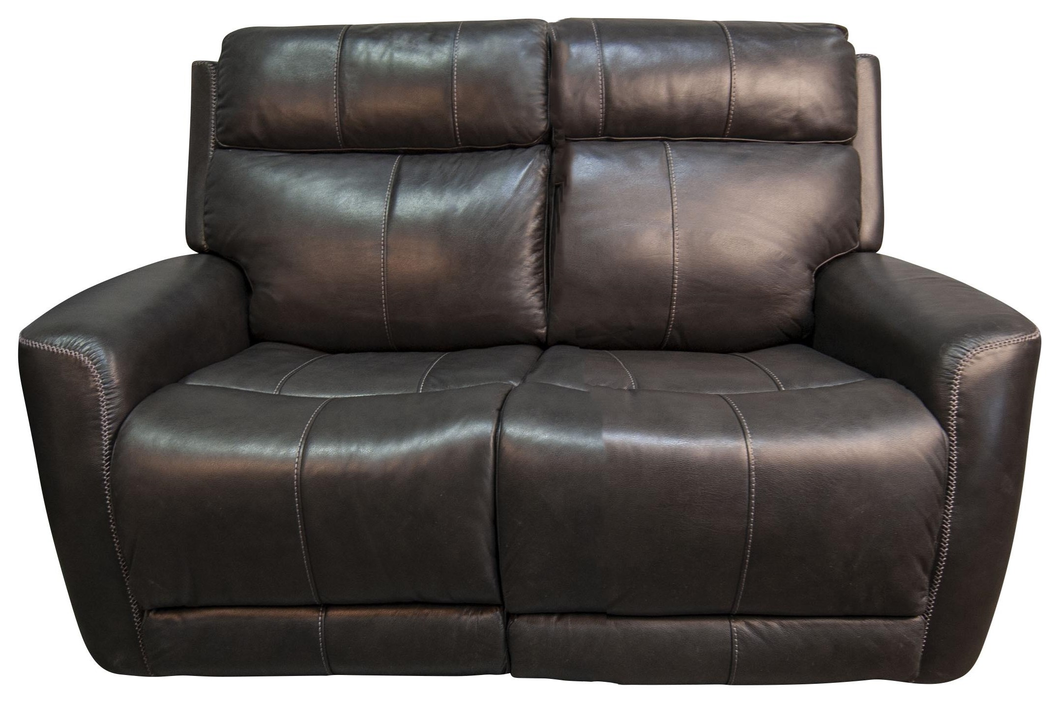 Pravin Leather Match Power Loveseat