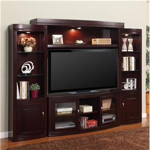 Parker House Premier Biscayne Premier Biscayne 4-Pc Stationary Wall Unit