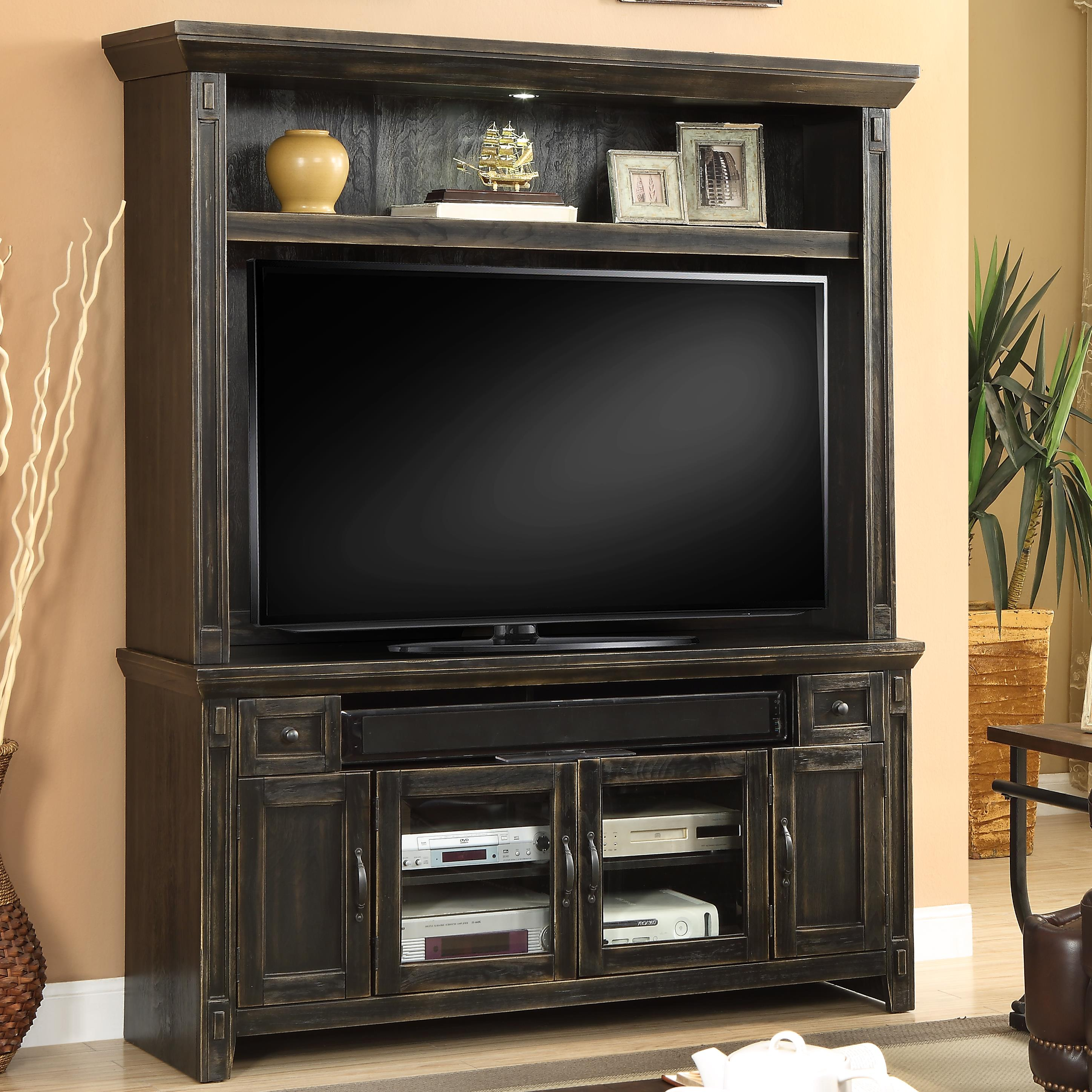"Parker House Ridgecrest 62"" TV Console and Hutch - Item Number: RID-162-2"