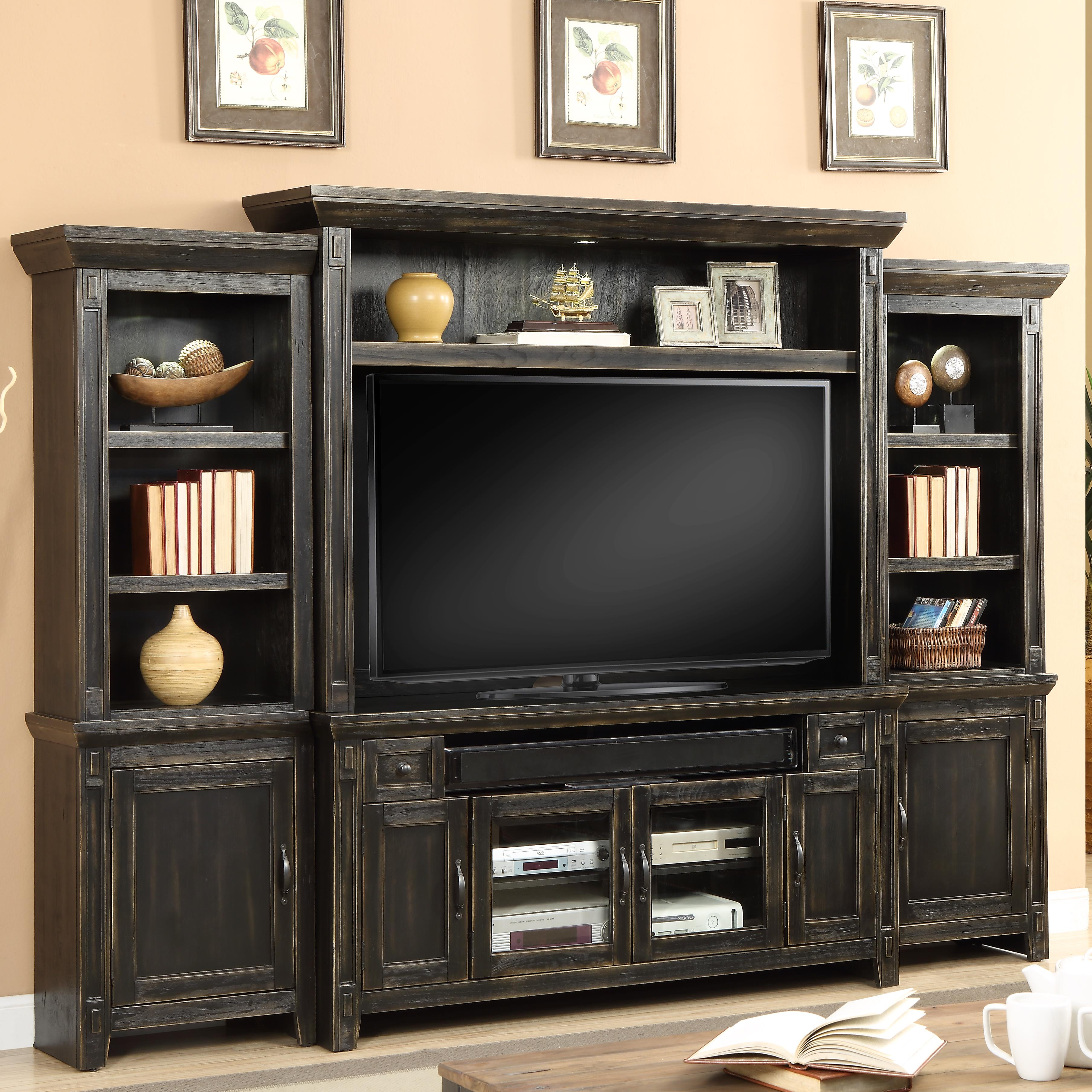 "Parker House Ridgecrest 62"" TV Console Entertainment Wall - Item Number: RID-162-4"