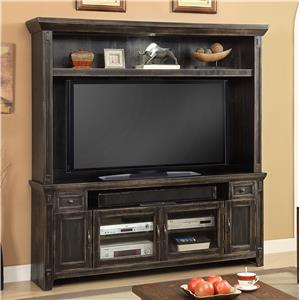 "Parker House Ridgecrest 72"" TV Console and Hutch"