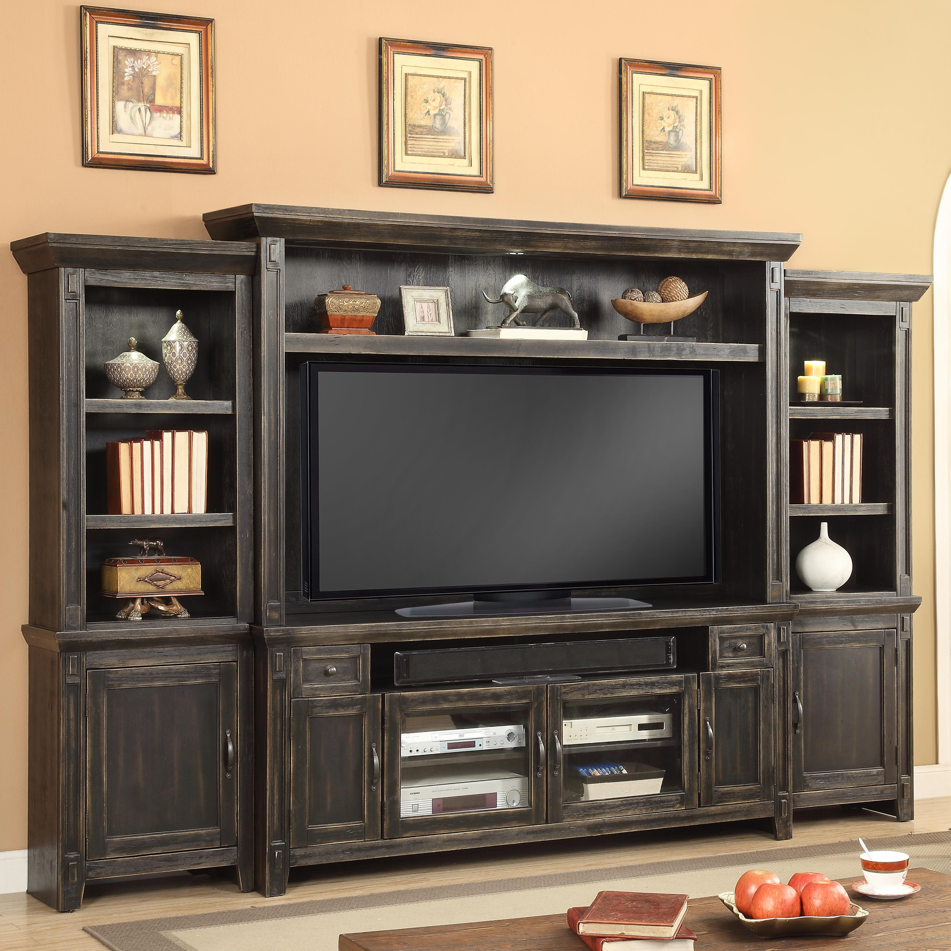 "Parker House Ridgecrest 72"" TV Console Entertainment Wall - Item Number: RID-172-4"
