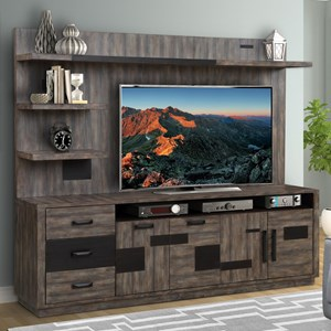 TV Console with Hutch