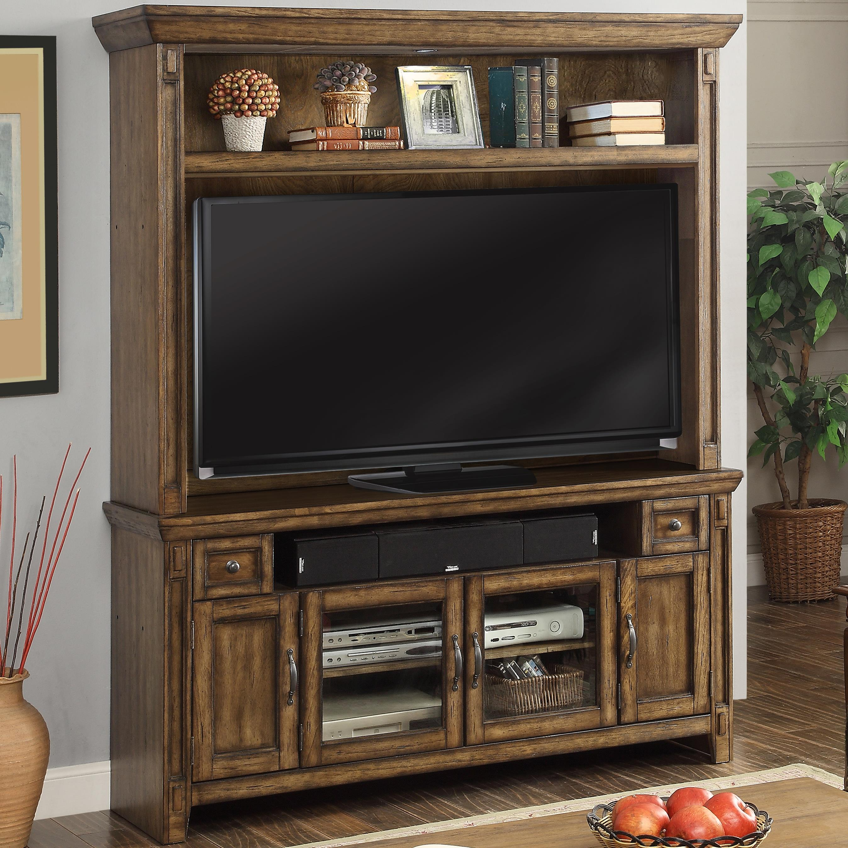 Parker House Riverbend TV Console and Hutch with 4 Doors - Item Number: Riv-162-2