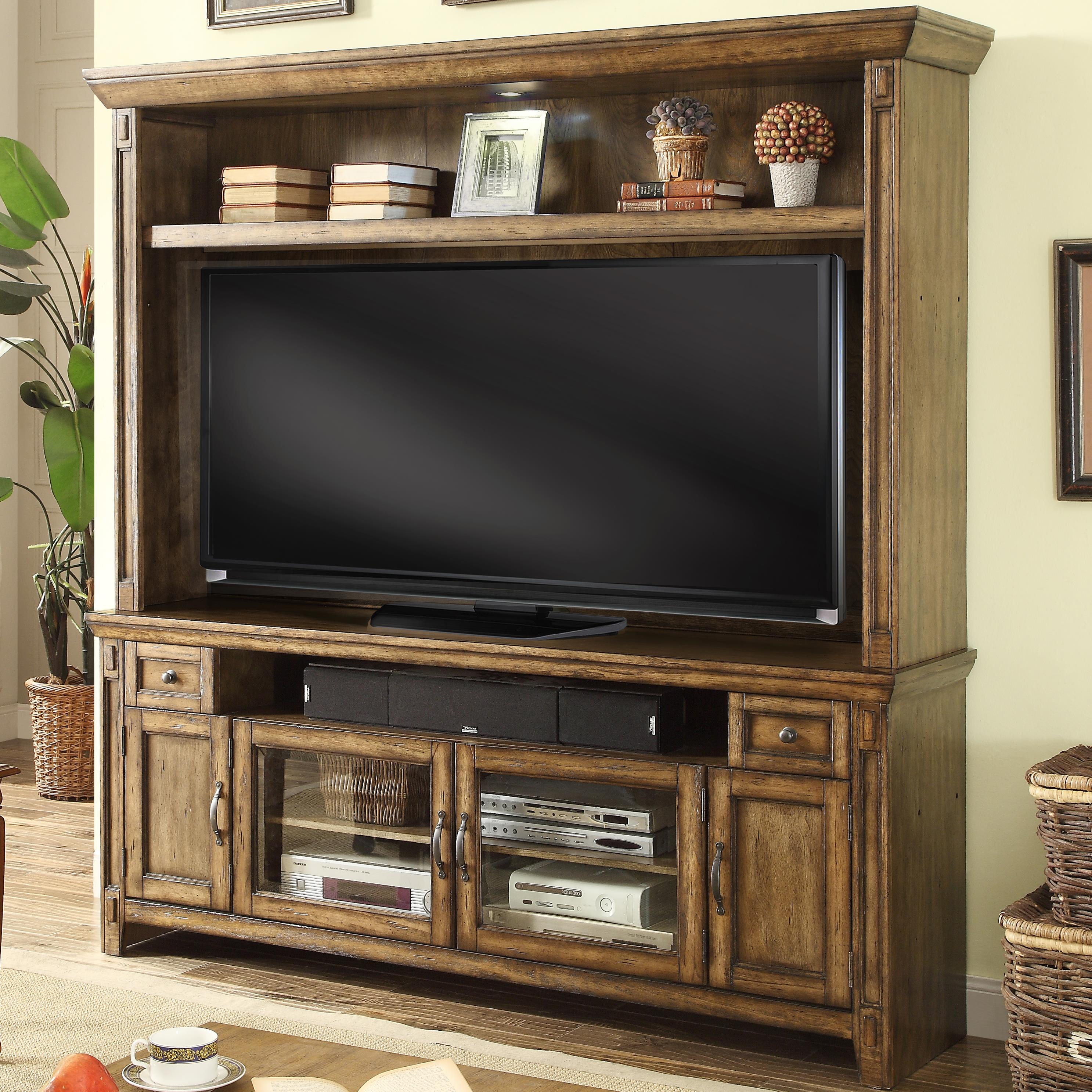 Parker House Riverbend TV Console and Hutch with 4 Doors - Item Number: RIV-172-2