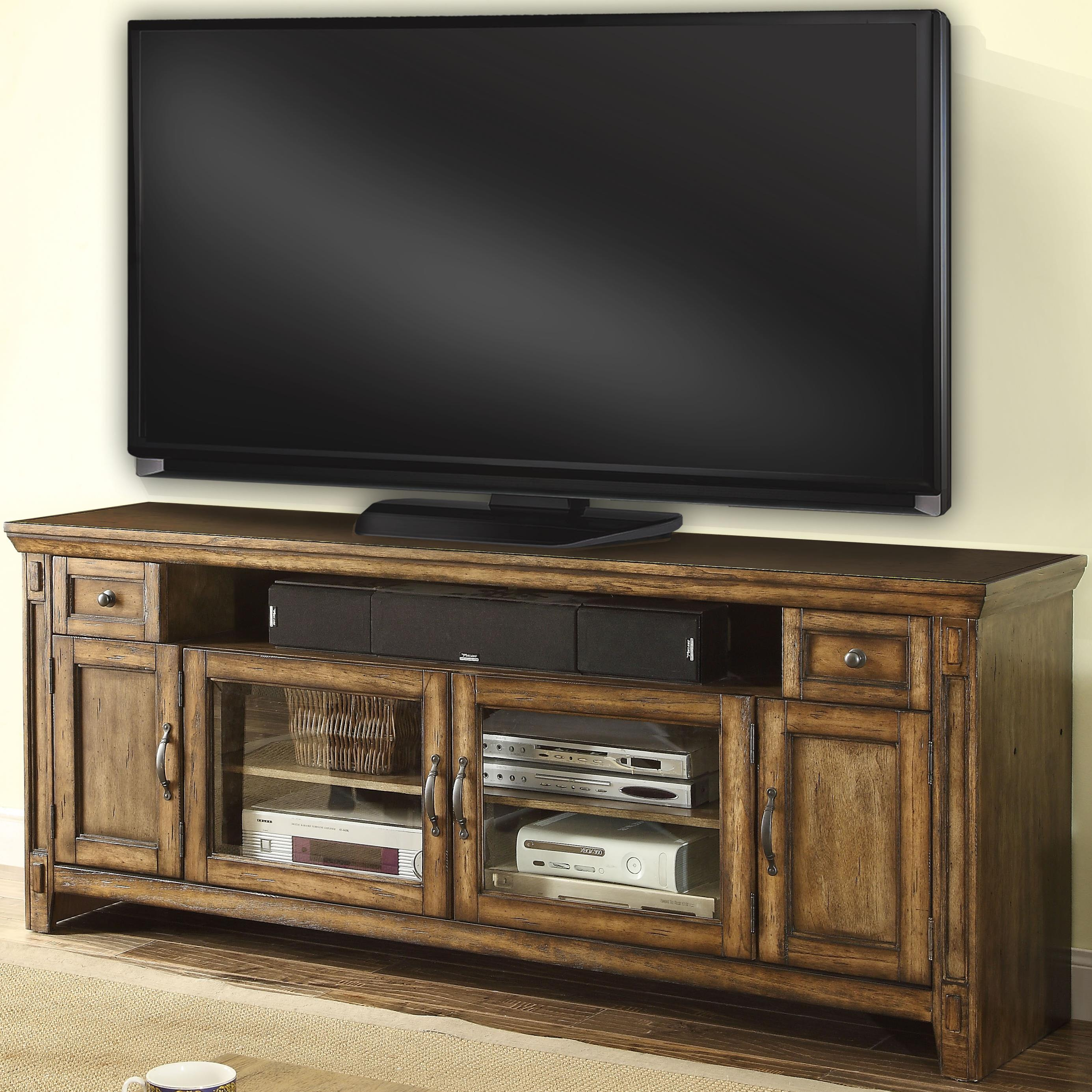 Parker House Riverbend TV Console with 4 Doors, and 2 Drawers - Item Number: RIV-72