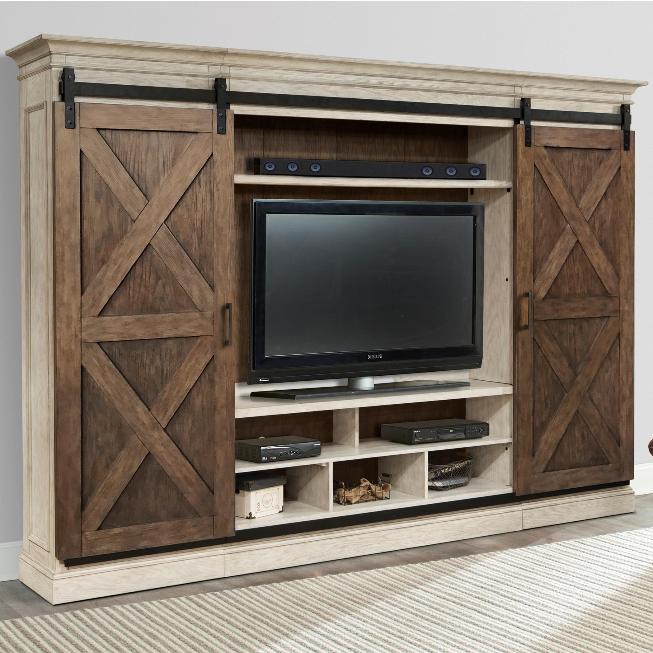 Savannah Entertainment Wall by Parker House at Baer's Furniture