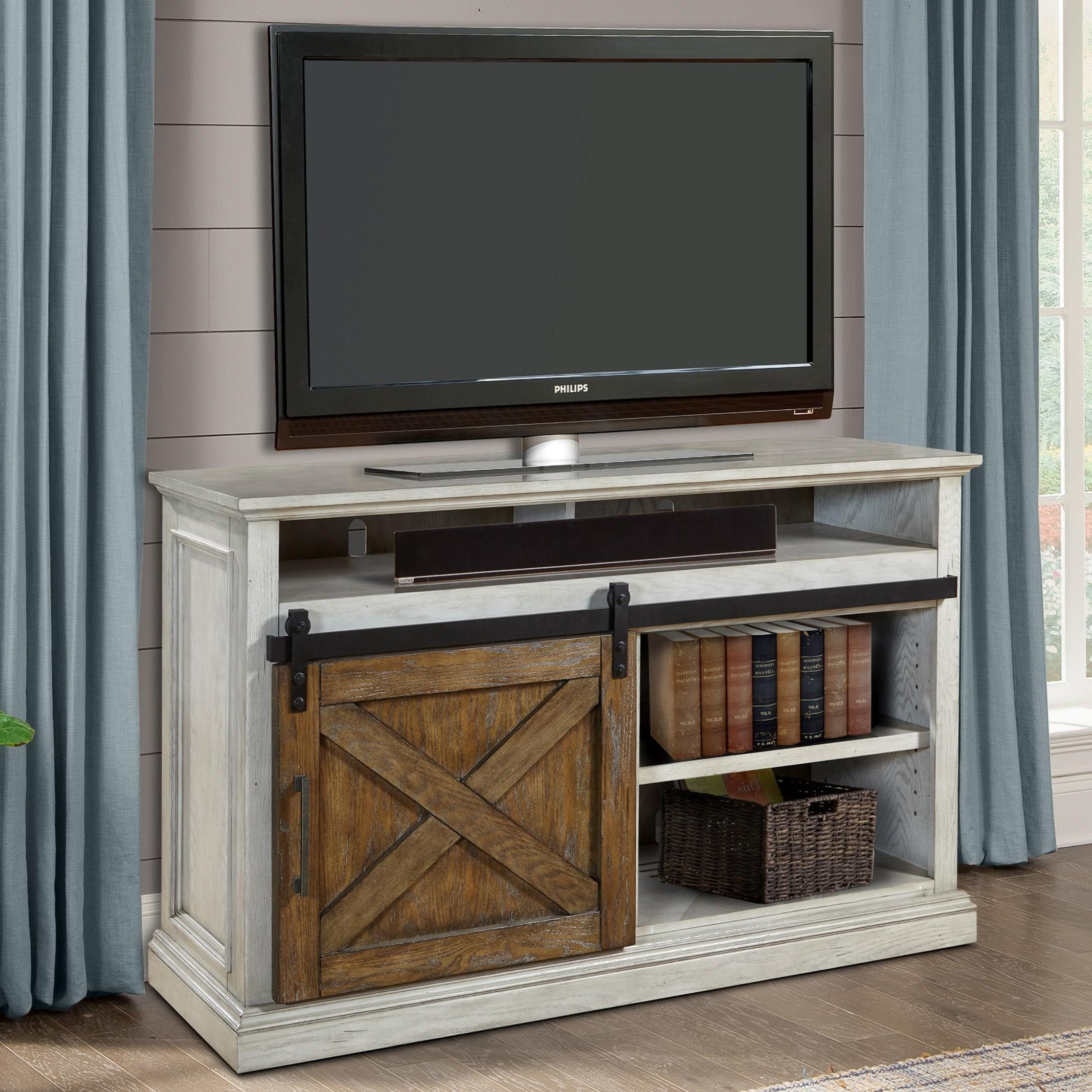 Parker House Savannah 55 Tv Console With Sliding Door Howell