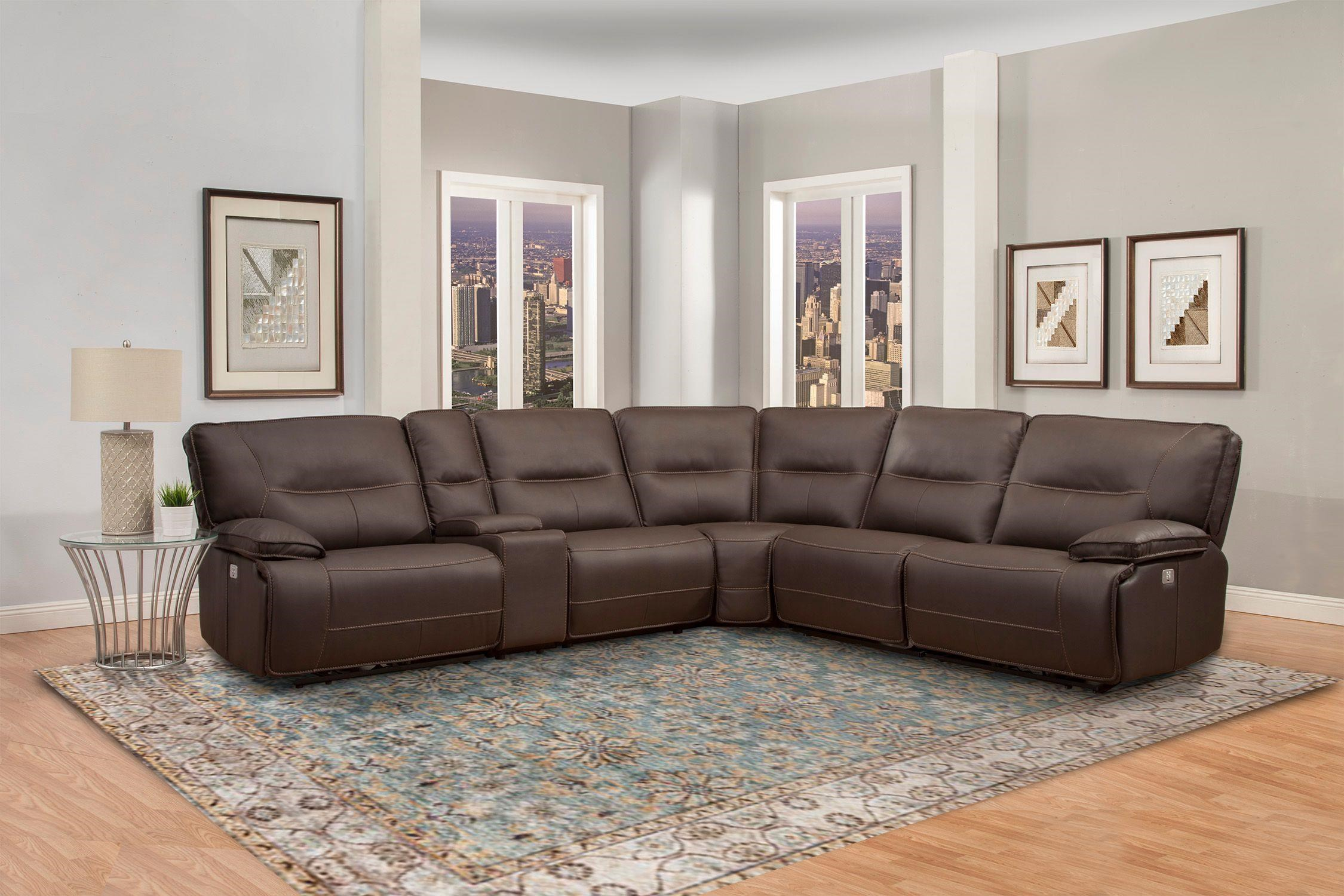 6PC POWER RECLINING SECTIONAL SOFA