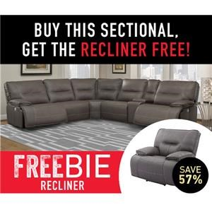 Spartan Sectional Sofa with Freebie!