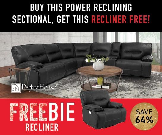 Spartan Spartan Power Sectional with Freebie! by Parker House at Morris Home
