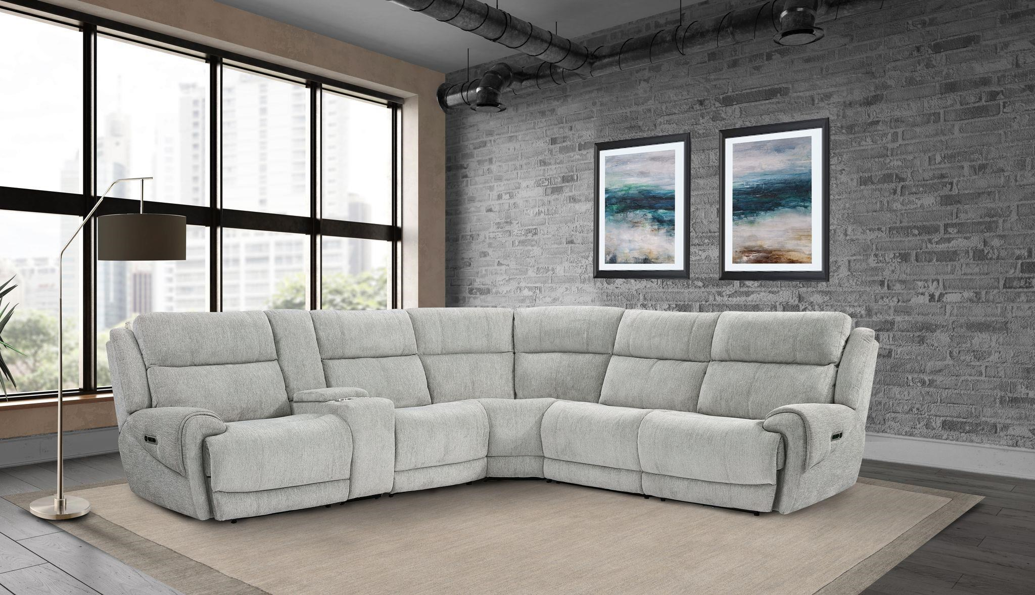 Spencer 6-Piece Power Reclining Sectional Sofa by Parker House at Beck's Furniture