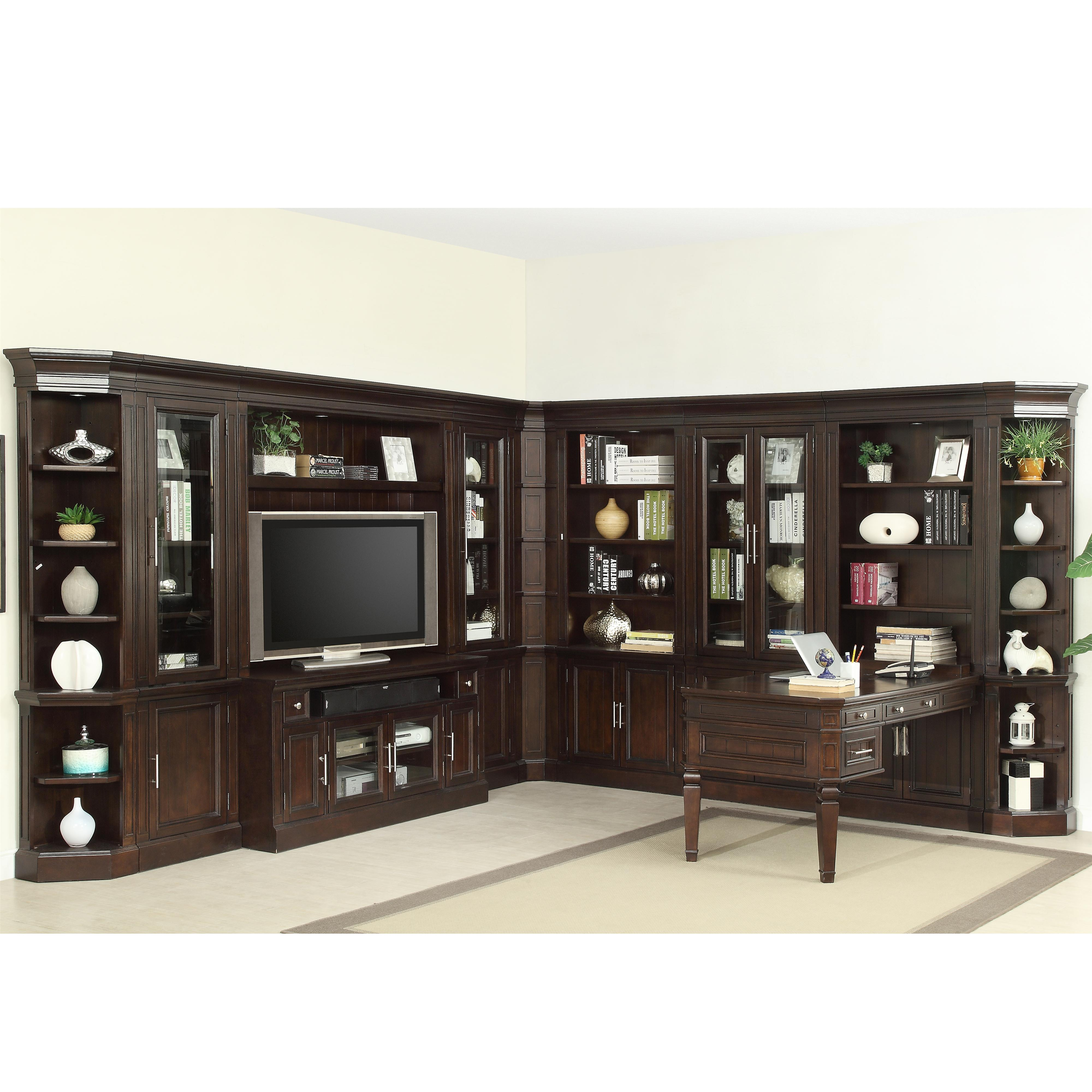 Parker House Stanford Complete Wall Unit With Peninsula Desk And Tv Console