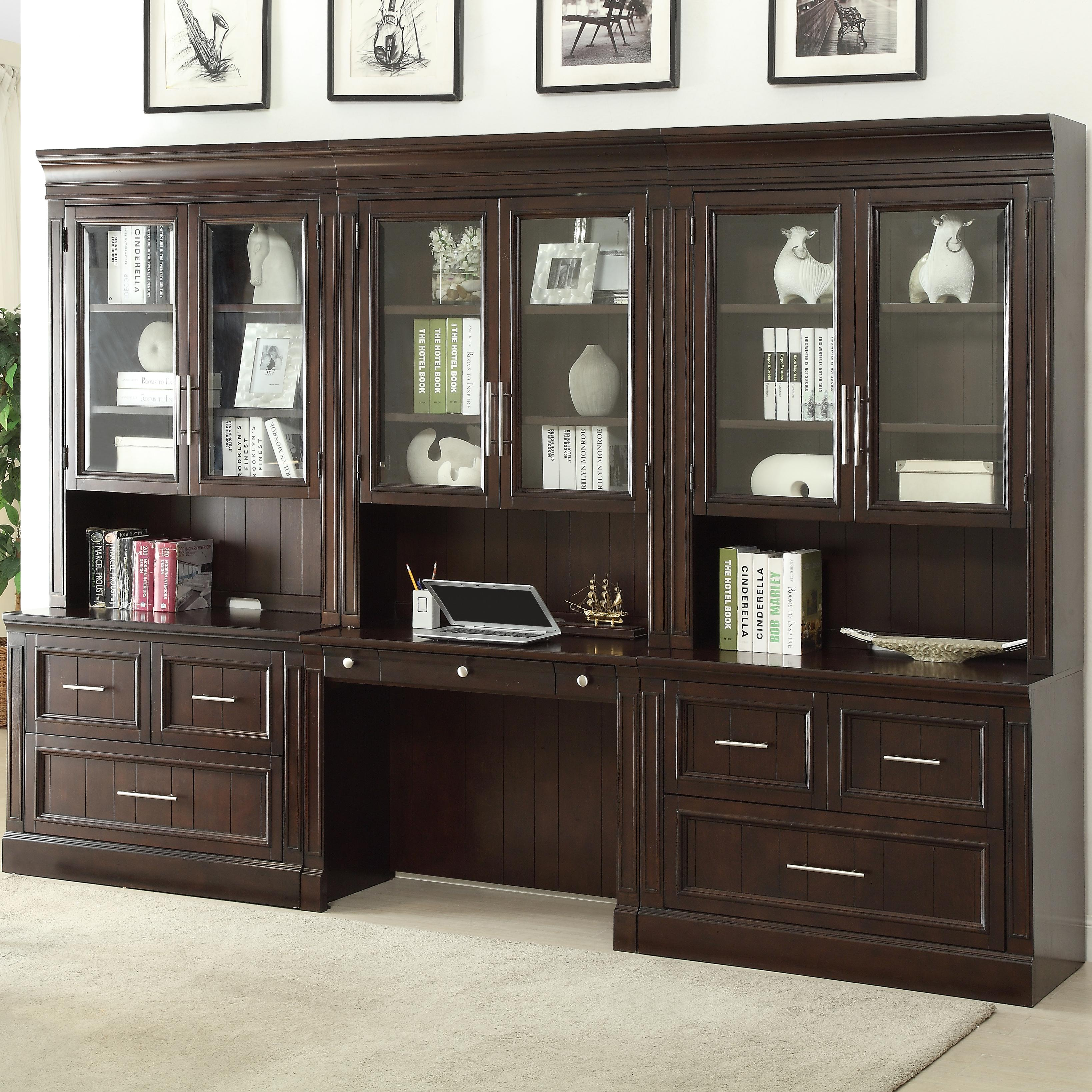 Marvelous Stanford Wall Unit With Lateral Files And Built In Desk By Parker House At Lindys Furniture Company Home Interior And Landscaping Spoatsignezvosmurscom