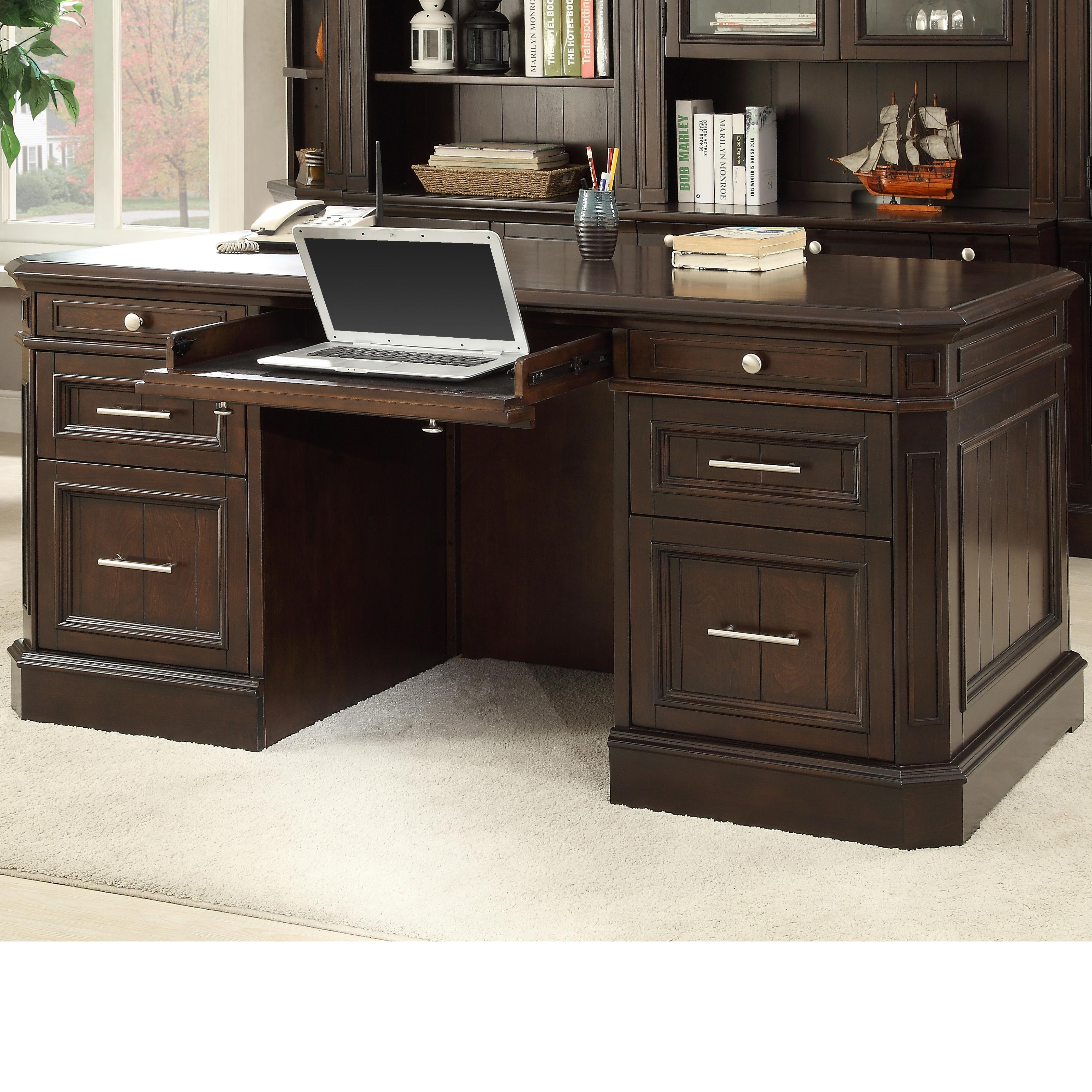 Parker House Stanford Double Pedestal Executive Desk - Item Number: STA-480-3