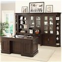 Parker House Stanford Double Pedestal Executive Desk with 7 Drawers