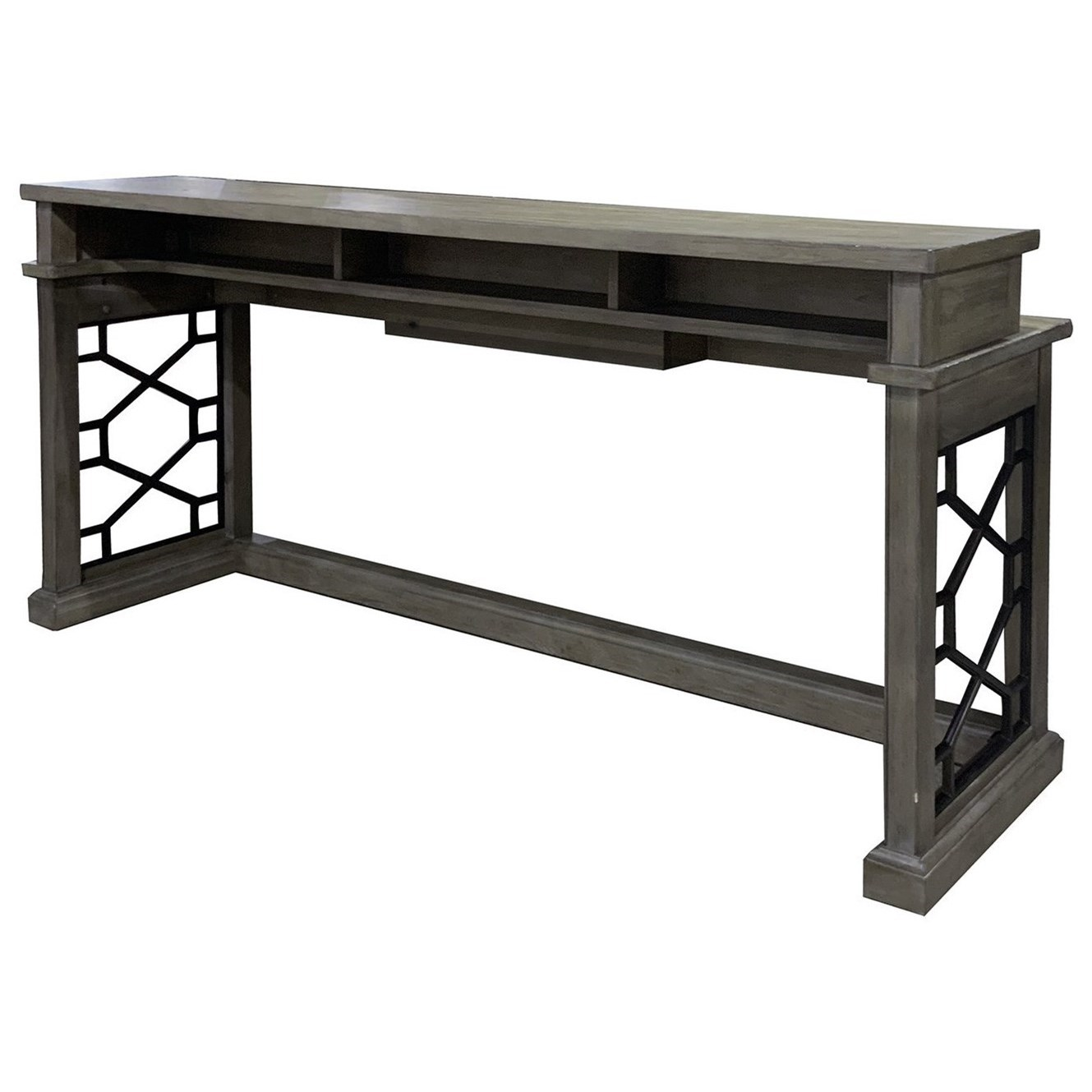 Picture of: Parker House Sundance Transitional Everywhere Console Table With Dual Outlets And Usb Ports Zak S Home Sofa Tables Consoles