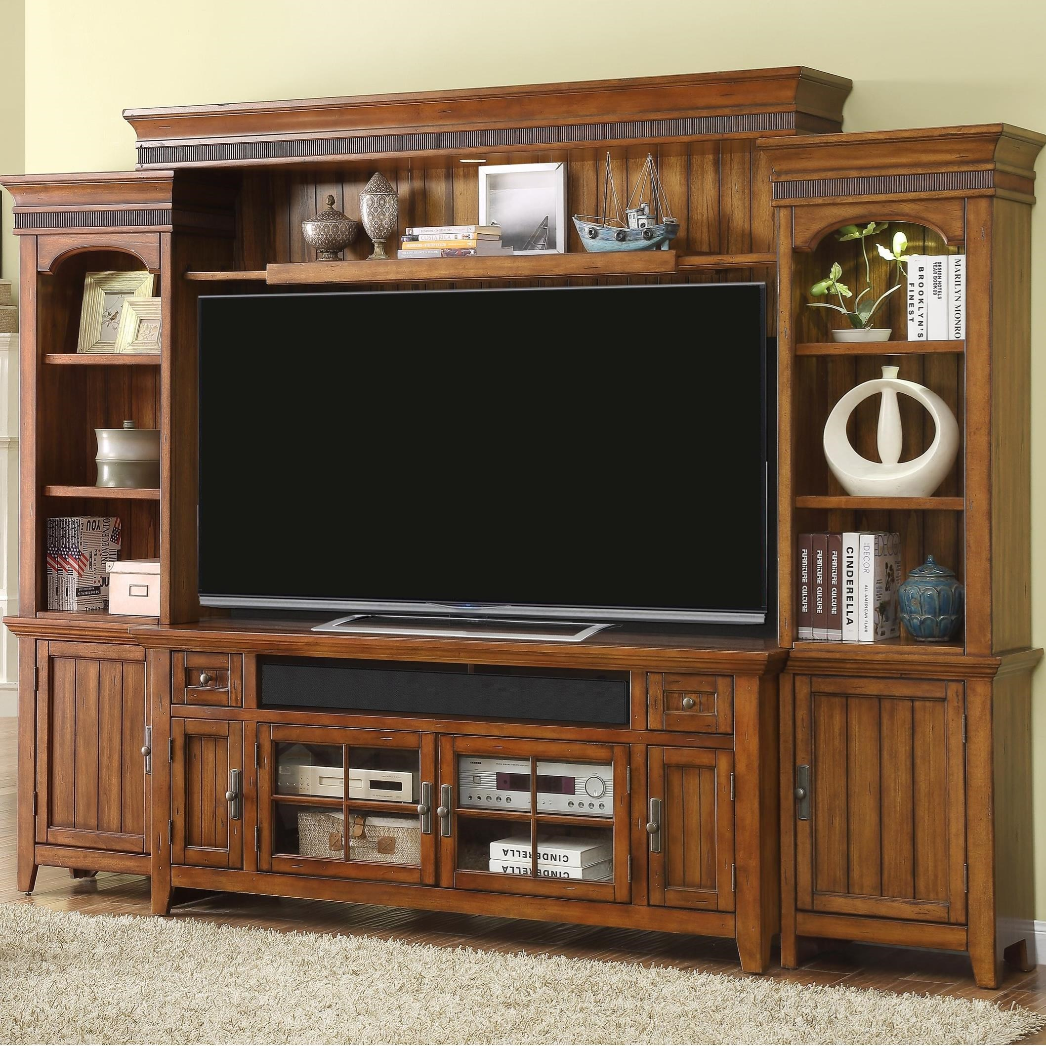 "Parker House Terrace 72"" Console Entertainment Wall - Item Number: TER-172-4"